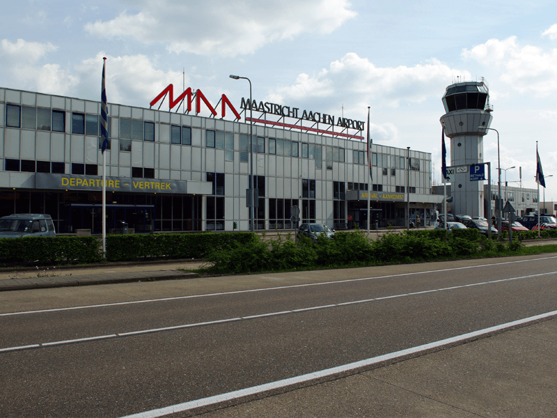 Maastricht Aachen airport in the South is one of the smallest airports in Holland.