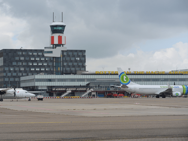 Rotterdam The Hague Airport is the third largest of the five airports in Holland.