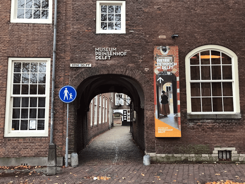 Entrance to the Prinsenhof Museum in Delft.