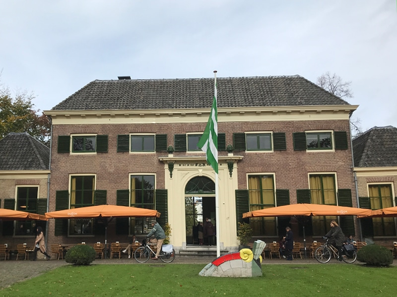 """Front of Dudok in the Park cafe in """"The Park"""" next to Euromast. A perfect place to try Dudok Apple Pie."""