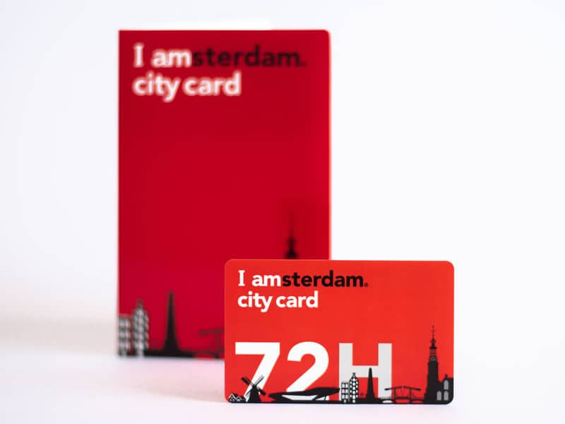 The I amsterdam City Card example 72 hours card