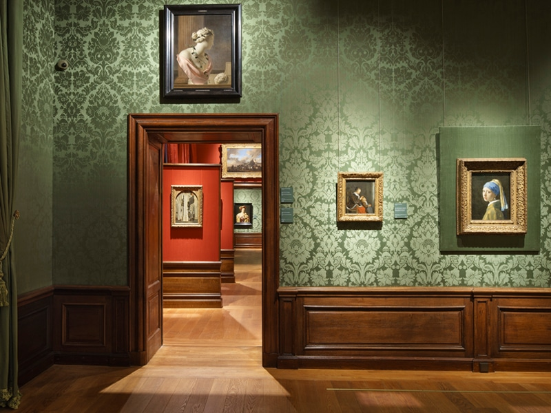 Interior of the Mauritshuis Museum in The Hague.