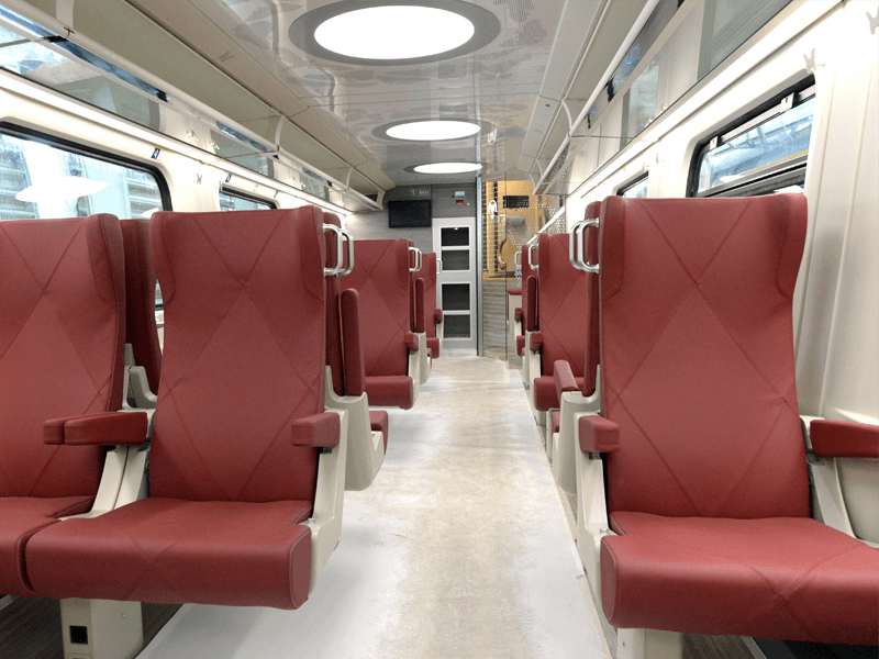 First class seats in NS double decker trains.