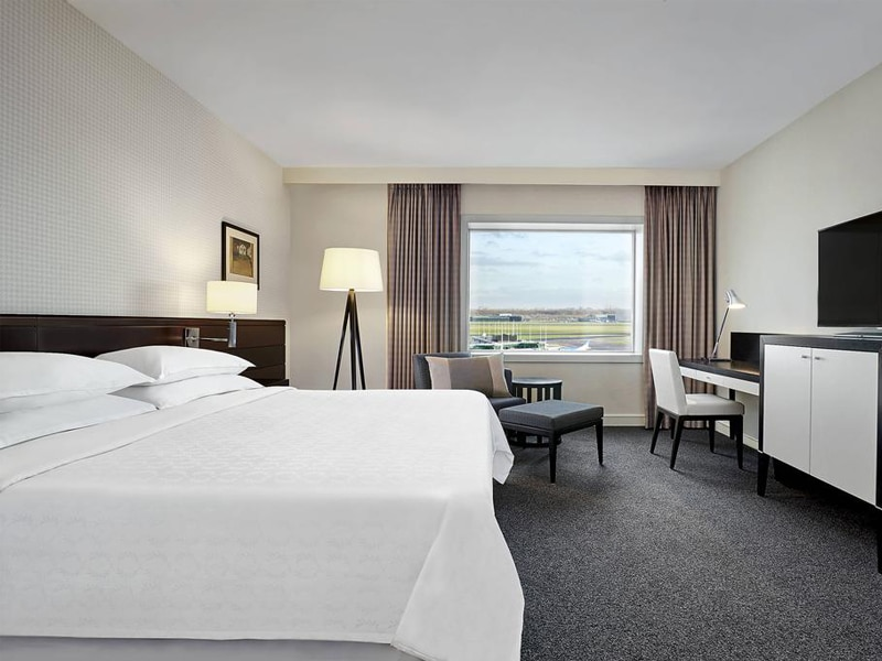 Room at the Sheraton Amsterdam airport hotel.