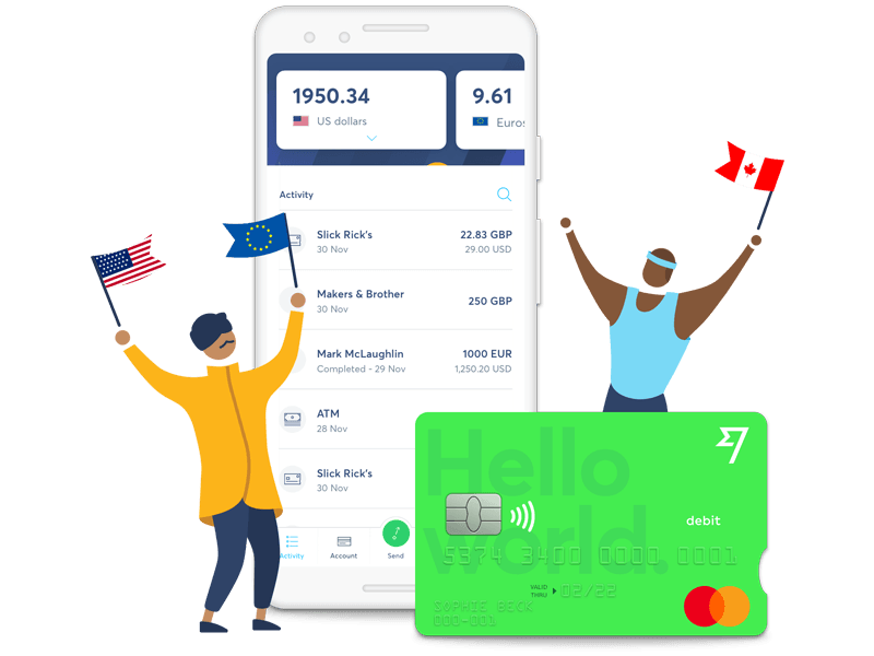Transferwise App and debit Mastercard